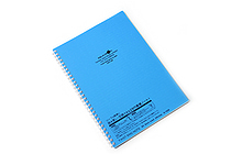 Lihit Lab Aqua Drops Twist Ring Notebook - Semi B5 - Lined - Blue - LIHIT LAB N-1608-8