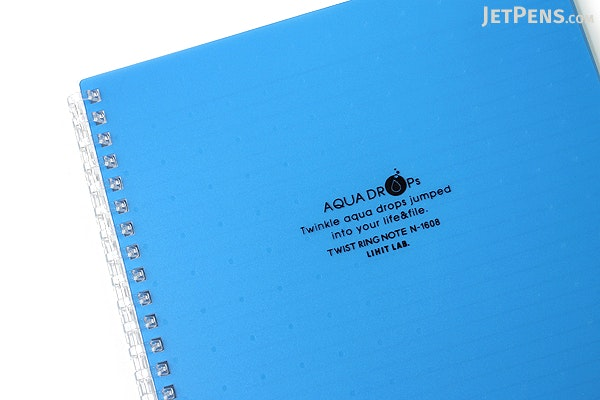 Lihit Lab Aqua Drops Twist Ring Notebook - Semi B5 - Lined - Blue - LIHIT LAB N-1608-8