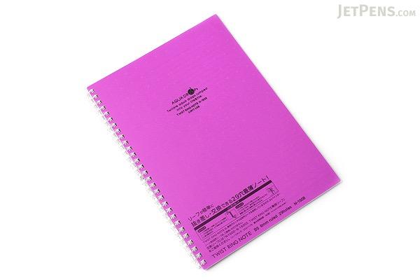 Lihit Lab Aqua Drops Twist Ring Notebook - Semi B5 - Lined - Fuji Purple - LIHIT LAB N-1608-10