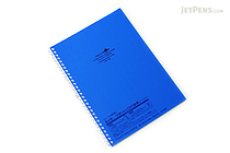 Lihit Lab Aqua Drops Twist Ring Notebook - Semi B5 - Lined - Indigo Blue - LIHIT LAB N-1608-11