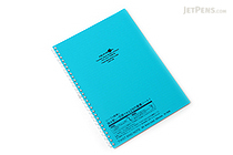 Lihit Lab Aqua Drops Twist Ring Notebook - Semi B5 - Lined - Blue Green - LIHIT LAB N-1608-28