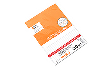 Lihit Lab Twist Ring Notebook Loose Leaf Paper - Semi B5 - Lined - 30 sheets - LIHIT LAB N-1600