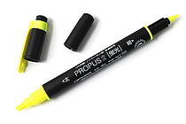 Uni Mitsubishi Propus 2 Double-Sided Highlighter - 4.0 mm / 0.6 mm Twin Tip - Yellow - UNI PUS101TN.2