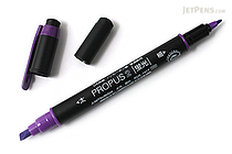 Uni Mitsubishi Propus 2 Double-Sided Highlighter - 4.0 mm / 0.6 mm Twin Tip - Purple - UNI PUS101TN.12