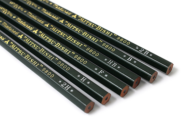 Uni Mitsubishi 9800 Pencil - 2B - UNI K98002B
