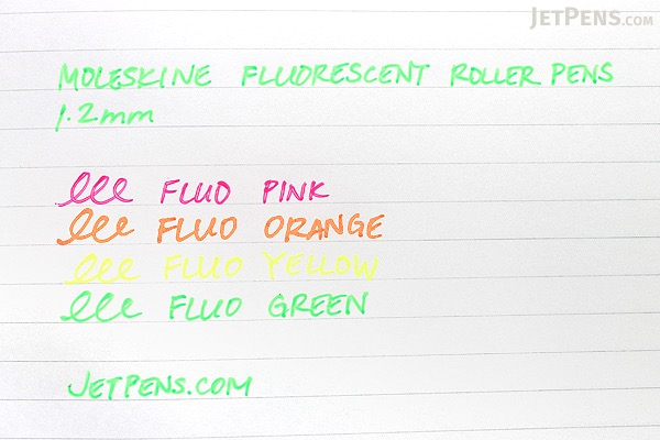 Moleskine Fluorescent Roller Pen - 1.2 mm - Fluo Pink - MOLESKINE 978-88-6613-513-5