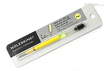 Moleskine Roller Pen Gel Refill - 1.2 mm - Fluo Yellow - MOLESKINE 978-88-6613-515-9