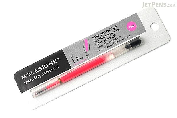 Moleskine Roller Pen Gel Refill - 1.2 mm - Fluo Pink - MOLESKINE 978-88-6613-517-3
