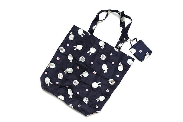 Kurochiku Japanese Pattern Eco-Bag - Small - Hana Kyogen Usagi (Flower Rabbit) - KUROCHIKU 20806625
