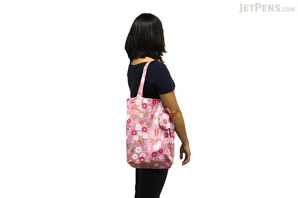 Kurochiku Japanese Pattern Eco-Bag - Small - Neko (Black Cat) - KUROCHIKU 20806629