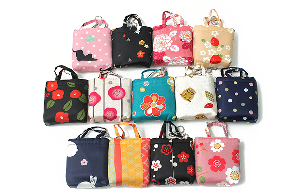Kurochiku Japanese Pattern Eco-Bag - Small - Nejibana (Twist Flower) - KUROCHIKU 21006804