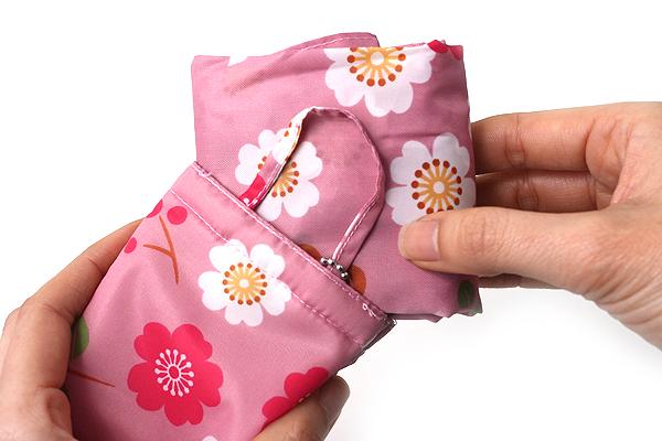 Kurochiku Japanese Pattern Eco-Bag - Small - Nobara (Wild Rose) - KUROCHIKU 21006802