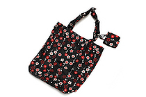 Kurochiku Japanese Pattern Eco-Bag - Small - Hanaedashima (Flower Branch Stripe) - KUROCHIKU 21006807