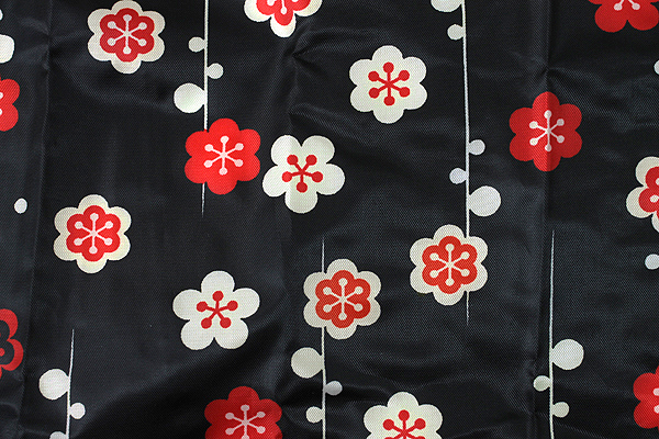 Kurochiku Japanese Pattern Eco-Bag - Small - Hanaedashima (Flower Branch Stripe) - KUROCHIKU 21006807