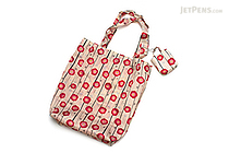 Kurochiku Japanese Pattern Eco-Bag - Small - Hanagatami Ume (Flower Basket Plum) - KUROCHIKU 20706311