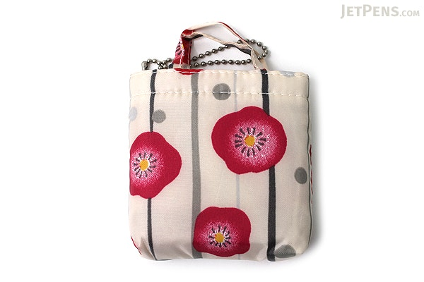 Kurochiku Japanese Pattern Eco-Bag - Small - Hanagatami Ume (Flower Basket Plum) - KUROCHIKU 20706311
