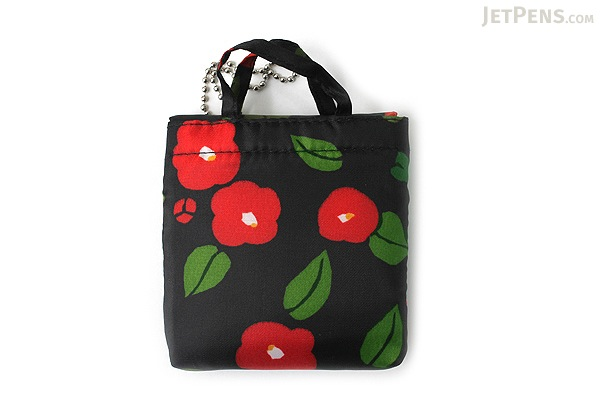 Kurochiku Japanese Pattern Eco-Bag - Small - Hanagatami Tsubaki (Flower Basket Camellia) - KUROCHIKU 20706318