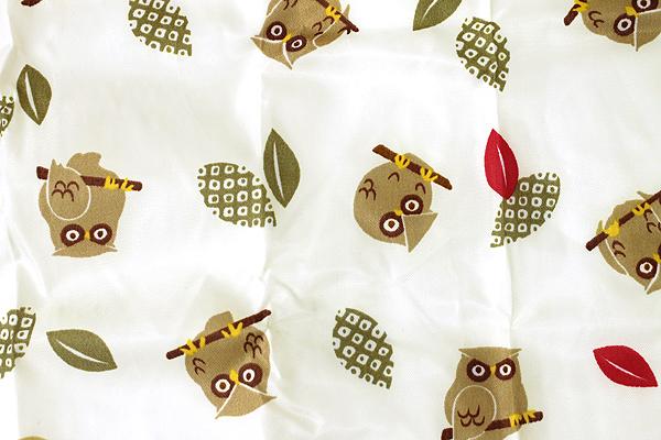 Kurochiku Japanese Pattern Eco-Bag - Small - Fukurou (Owl) - KUROCHIKU 20706320
