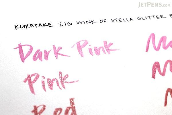 Kuretake Zig Wink of Stella Glitter Brush Pen - Dark Pink - KURETAKE MS-55-027