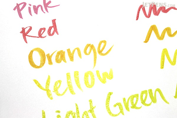 Kuretake Zig Wink of Stella Glitter Brush Pen - Yellow - KURETAKE MS-55-050