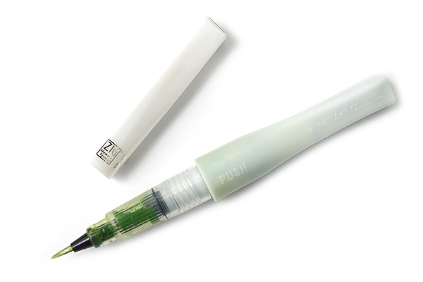 Kuretake Zig Wink of Stella Glitter Brush Pen - Light Green - KURETAKE MS-55-041