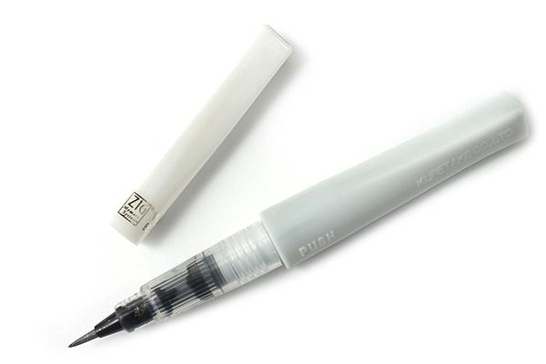 Kuretake Zig Wink of Stella Glitter Brush Pen - Silver - KURETAKE MS-55-102