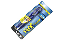 Pilot FriXion Ball Clicker US Erasable Gel Pen - 0.7 mm - Blue - Pack of 2 - PILOT FXCC2BLUF