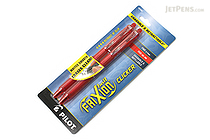 Pilot FriXion Ball Clicker US Gel Pen - 0.7 mm - Red - Pack of 2 - PILOT FXCC2REDF