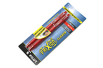 Pilot FriXion Ball Clicker US Erasable Gel Pen - 0.7 mm - Red - Pack of 2 - PILOT 31462