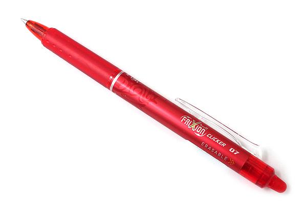 Pilot FriXion Ball Clicker US Erasable Gel Pen - 0.7 mm - Red - Pack of 2 - PILOT 31462