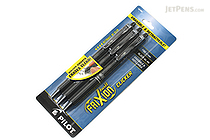 Pilot FriXion Ball Clicker US Gel Pen - 0.7 mm - Black - Pack of 3 - PILOT FXCC3BLKF