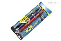 Pilot FriXion Ball Clicker US Erasable Gel Pen - 0.7 mm - 3 Color Set (Black / Blue / Red) - PILOT FXCC3001F