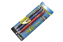 Pilot FriXion Ball Clicker US Erasable Gel Pen - 0.7 mm - 3 Color Set (Black / Blue / Red) - PILOT FXCC3001F