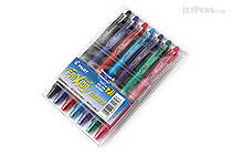 Pilot FriXion Ball Clicker US Erasable Gel Pen - 0.7 mm - 7 Color Set - PILOT FXCC7001F-P