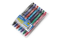 Pilot FriXion Ball Clicker US Erasable Gel Pen - 0.7 mm - 7 Color Set - PILOT 31472