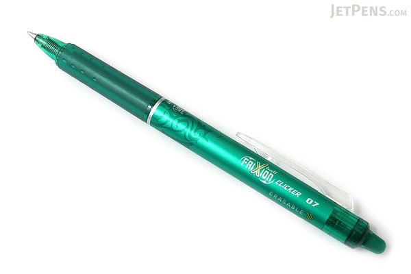 Pilot FriXion Ball Clicker US Erasable Gel Pen - 0.7 mm - Green - PILOT FXC--GRNFBC