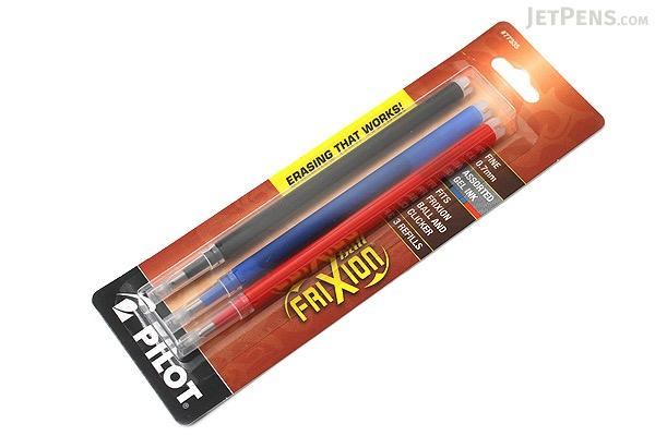 Pilot FriXion US Gel Pen Refill - 0.7 mm - 3 Color Set (Black / Blue / Red) - PILOT FX7R3001