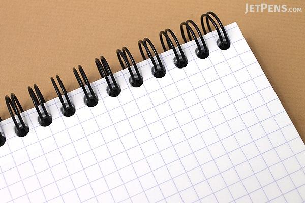 """Rhodia Reverse Book - 8.25"""" x 8.25"""" - Graph - Black - RHODIA 193609"""