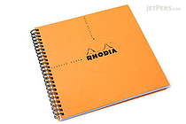 "Rhodia Reverse Book - 8.25"" x 8.25"" - Graph - Orange - RHODIA 193608"
