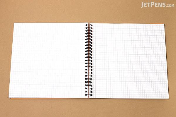 """Rhodia Reverse Book - 8.25"""" x 8.25"""" - Graph - Orange - RHODIA 193608"""