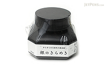 Kuretake Silver Calligraphy Ink - 60 ml Bottle - KURETAKE BA302-6