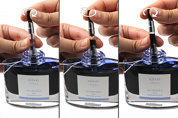 Draw ink from bottle
