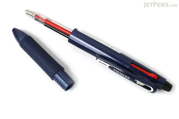 Zebra Sarasa 2+S 2 Color 0.5 mm Gel Ink Multi Pen + 0.5 mm Pencil - Navy Body - ZEBRA SJ2-NV