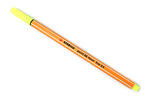 Stabilo Point 88 Fineliner Marker Pen - 0.4 mm - Neon Yellow - STABILO SW88-024