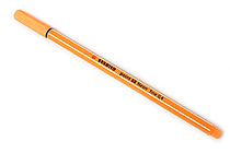 Stabilo Point 88 Fineliner Marker Pen - 0.4 mm - Neon Orange - STABILO SW88-054