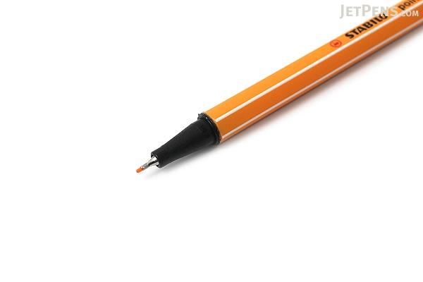 Stabilo Point 88 Fineliner Marker Pen - 0.4 mm - Neon Orange - STABILO 88-054