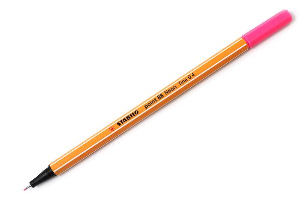 Stabilo Point 88 Fineliner Marker Pen - 0.4 mm - Neon Pink - STABILO 88-056