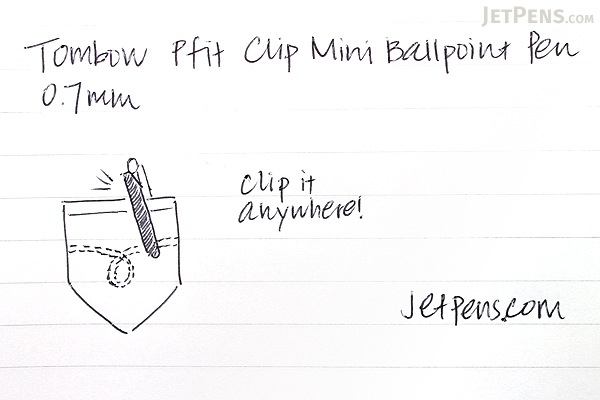 Tombow Pfit Clip Mini Ballpoint Pen - 0.7 mm - Amethyst Purple Clip - TOMBOW BC-SCP90