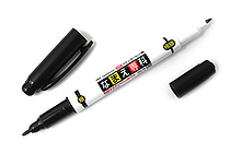 Tombow Double-Sided Namae Senka Name Marker - 0.8 mm / 0.4 mm Twin Tip - Black Ink - TOMBOW MCA-111
