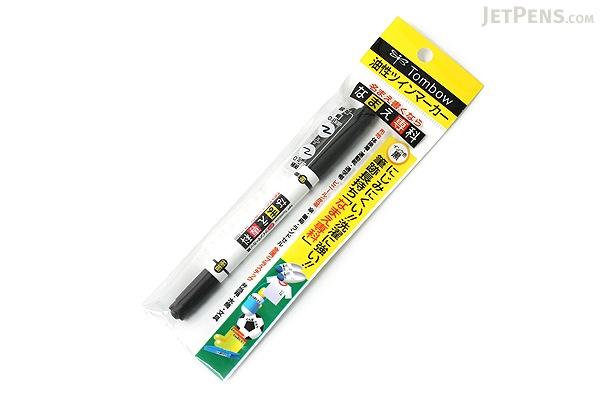 Tombow Double-Sided Namae Senka Name Marker - 0.8 mm / 0.4 mm Twin Tip - Black Ink - TOMBOW MCA-111